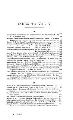 The American Journal of Obstetrics and Diseases of Women and Children
