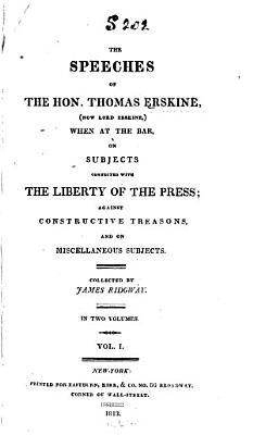 The Speeches of the Hon  Thomas Erskine PDF
