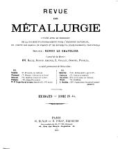 Revue de métallurgie: Volume4