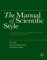 The Manual of Scientific Style PDF