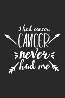 I Had Cancer  Cancer Never Had Me Book