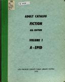 Adult Catalog  Fiction PDF