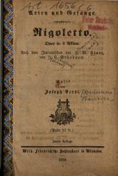 Rigoletto: Oper in 4 Akten