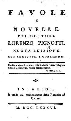 Favole e Novelle. Seconda edizione con aggiunte