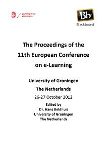 ECEL2012 The Proceedings of the 11th European Conference on E Learning PDF