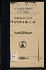 Teacher's Manual to Accompany Part 1- Federal Citizenship Textbook, English for American Citizenship