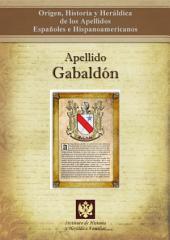 Apellido Gabaldón: Origen, Historia y heráldica de los Apellidos Españoles e Hispanoamericanos