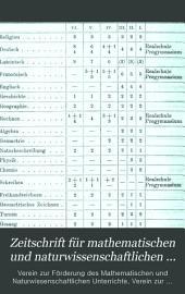 Zeitschrift für mathematischen und naturwissenschaftlichen Unterricht: Band 15