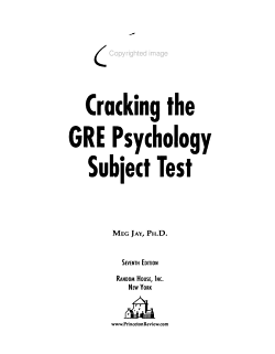 Cracking the GRE Psychology Subject Test PDF