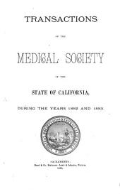 Transactions of the Session of the Medical Society of the State of California: Volume 13