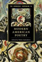The Cambridge Companion to Modern American Poetry PDF