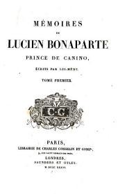 Mémoires de Lucien Bonaparte prince de Canino