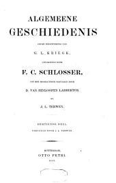 Algemeene geschiedenis: Volumes 13-14