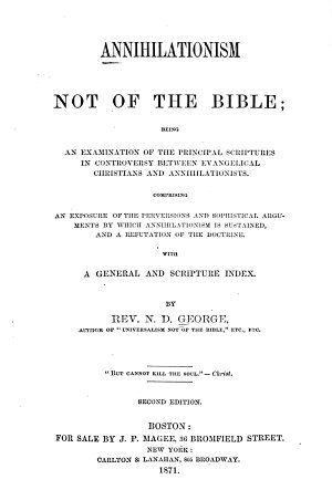 Annihilationism Not of the Bible