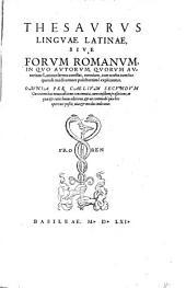 Thesaurus linguae latinae: Volume 1