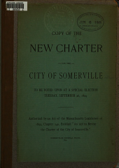 Copy of the New Charter for the City ... September 26, 1899 ...