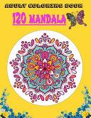 Adult Coloring Book 120 Mandala