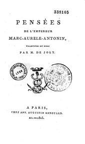Pensées de Marc-Aurèle Antonin