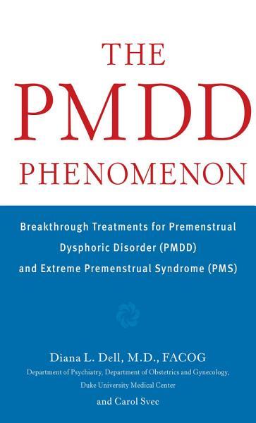 Download The PMDD Phenomenon Book