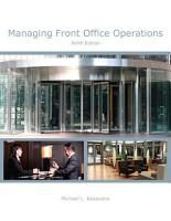 Managing Front Office Operations  AHLEI  PDF
