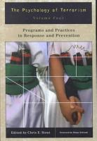 The Psychology of Terrorism  Programs and practices in response and prevention PDF