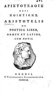 Aristotelis De poetica liber