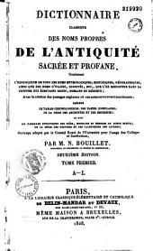 Dictionnaire classique des noms propres de l'antiquité sacrée et profane