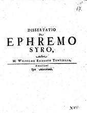 Diss. de Ephremo Syro