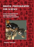 Digital Photography for Science  Hardcover  PDF