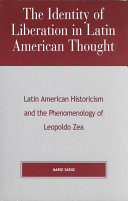 The Identity of Liberation in Latin American Thought PDF