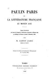 Paulin Paris et la littérature française au moyen âge