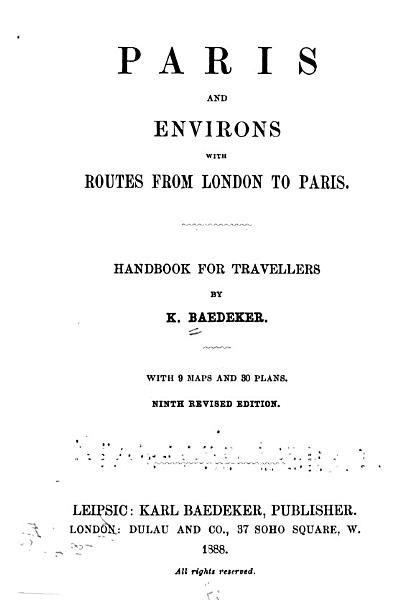 Download Paris and Environs with Routes from London to Paris Book