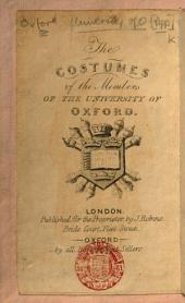 The Costumes of the Members of the University of Oxford