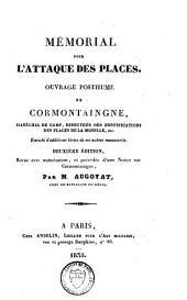 Oeuvres posthumes: mémorial pour la fortification permanente et passagère : mémorial pour l'attaque des places, Volume2