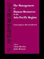 The Management of Human Resources in the Asia Pacific Region PDF