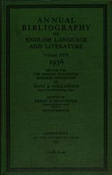 Annual Bibliography Of Eng Ish Language And Literature Book PDF