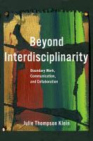 Beyond Interdisciplinarity PDF