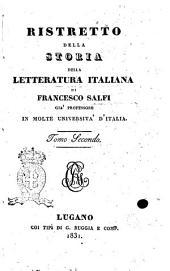 Ristretto della storia della letteratura italiana di Francesco Salfi: Volume 2