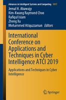 International Conference on Applications and Techniques in Cyber Intelligence ATCI 2019 PDF