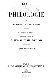 Revue de philologie, de littérature et d'histoire anciennes