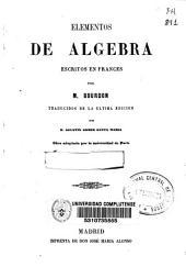 Elementos de álgebra escritos en francés
