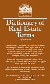 Dictionary of Real Estate Terms, 8th edition