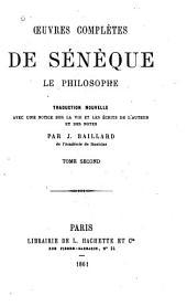 Oeuvres complètes de Sénèque le philosophe: Volume2