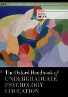 The Oxford Handbook of Undergraduate Psychology Education PDF