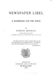 Newspaper Libel: A Handbook for the Press