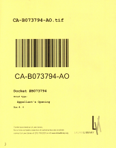 California. Court of Appeal (2nd Appellate District). Records and Briefs: B073794, Appellant's Opening