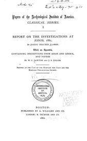Report on the Investigations at Assons, 1881