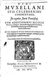 Commentarii in regulas iuris Pontificii