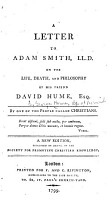 A Letter to Adam Smith     on the Life  Death  and Philosophy of His Friend David Hume     PDF