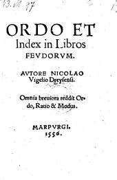 Ordo et index in libros feudorum